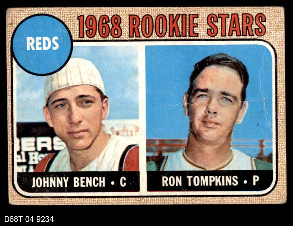 1968 Topps #247 Reds Rookies   -  Johnny Bench / Ron Tompkins