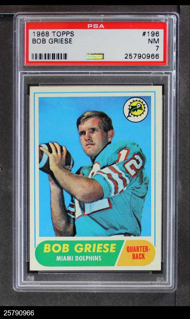 1968 Topps #196  Bob Griese