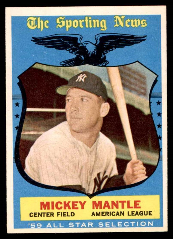 1959 Topps #564 All-Star  -  Mickey Mantle