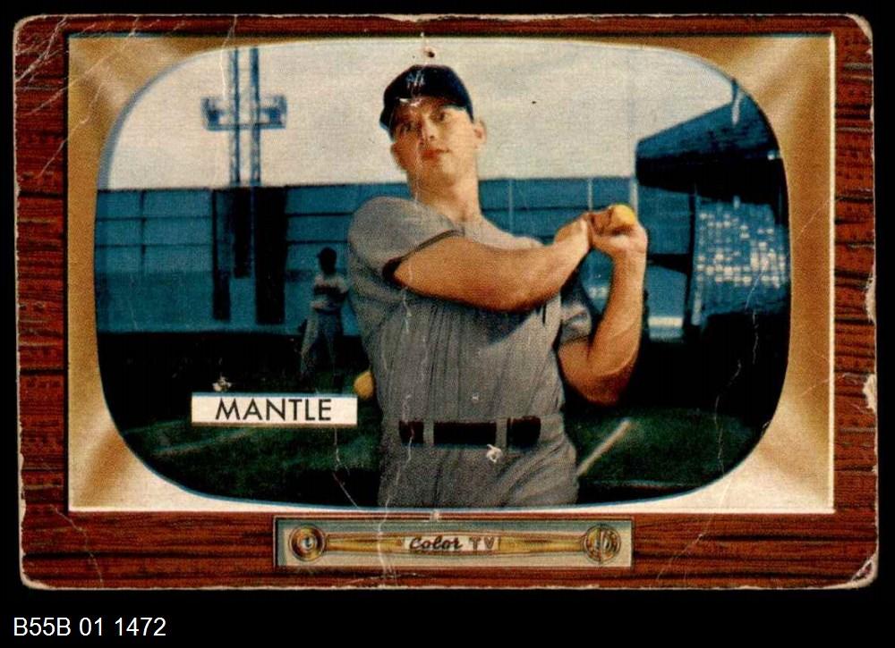 1955 Bowman #202  Mickey Mantle