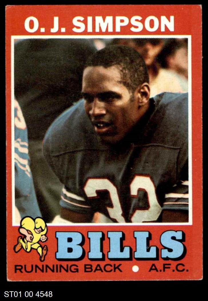 1971 Topps #260  O.J. Simpson