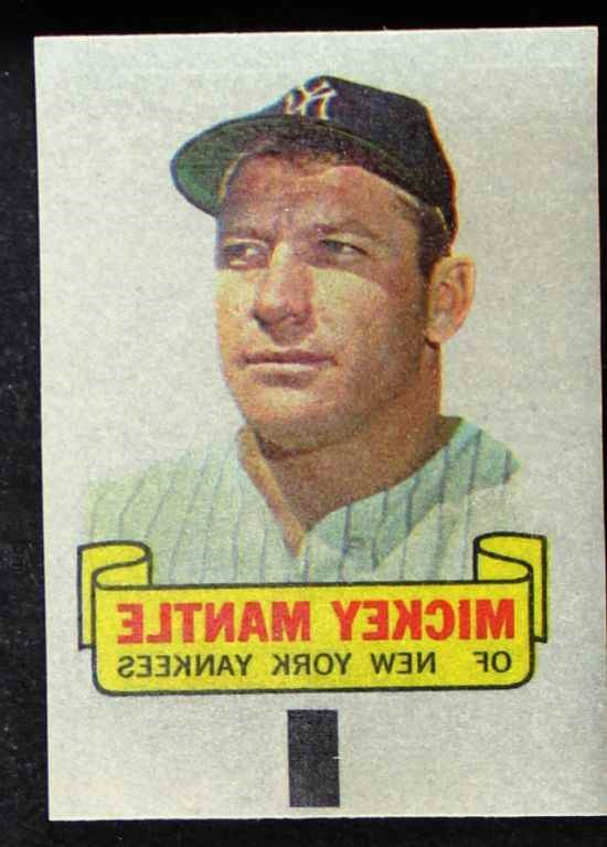 1966 Topps Rub Offs #   Mickey Mantle