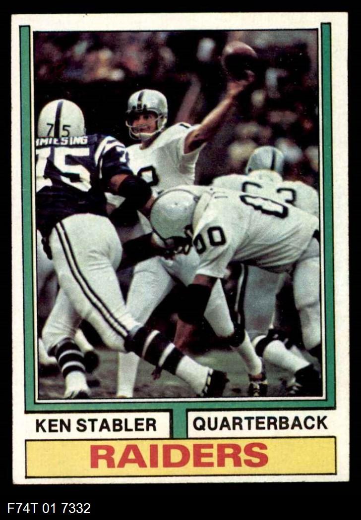 1974 Topps #451  Ken Stabler