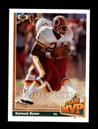 1991 Upper Deck #478   -  Earnest Byner Team MVP