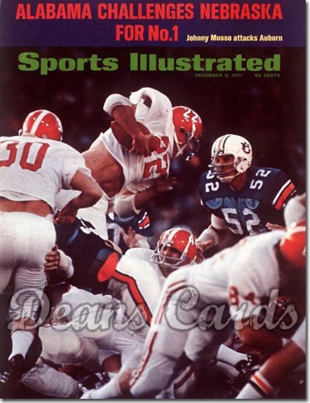 1971 Sports Illustrated - With Label   December 6  -  Johnny Musso (Alabama Crimson Tide)