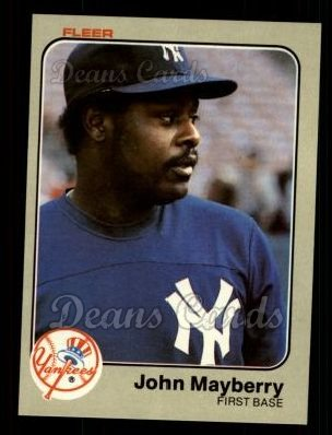 1983 Fleer #386  John Mayberry