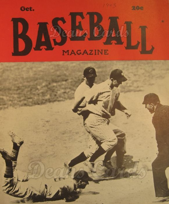 1943 Baseball Magazine    October