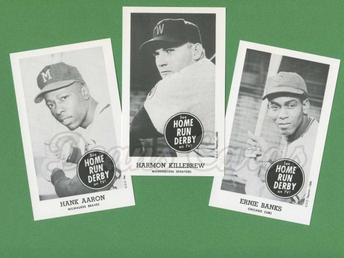 1959 Home Run Derby Reprints    Home Run Derby Reprint Complete Set
