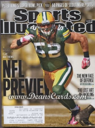 2011 Sports Illustrated   September 5  -  NFL Preview / Clay Matthews / Green Bay Packers