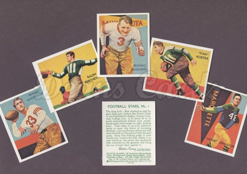 1935 National Chicle Reprint    National Chicle Football Reprint Complete Set