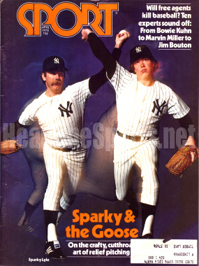 1978 Sport Magazine   -  Sparky Lyle / Goose Gossage  April