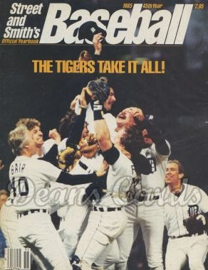 1985 Street & Smith's Baseball Yearbook    Tigers Take All
