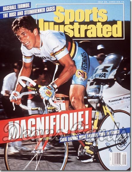 1990 Sports Illustrated - With Label   July 30  -  Greg Lemond Cycling