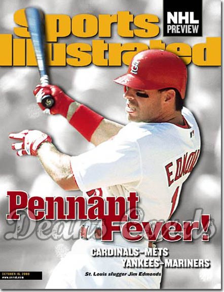 2000 Sports Illustrated   October 16  -  Jim Edmonds St. Louis