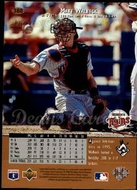 1996 Upper Deck #388  Matt Walbeck