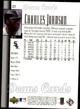 2001 Upper Deck #137  Charles Johnson
