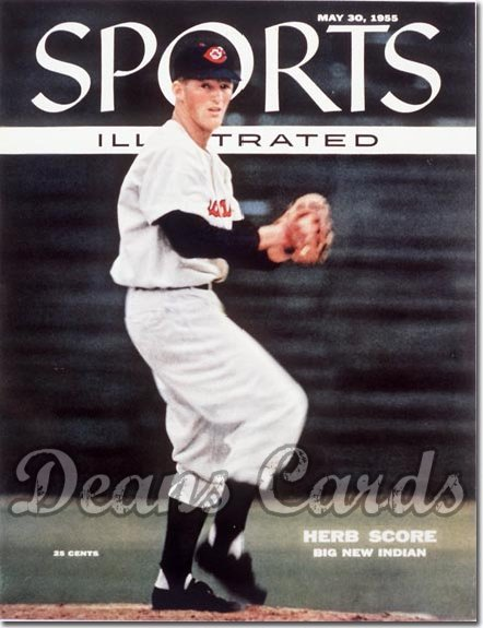 1955 Sports Illustrated - With Label   May 30  -  Herb Score (Cleveland Indians)