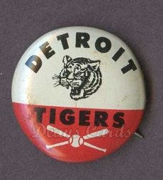 1961 Cranes Potato Chip Pin #7   Detroit Tigers