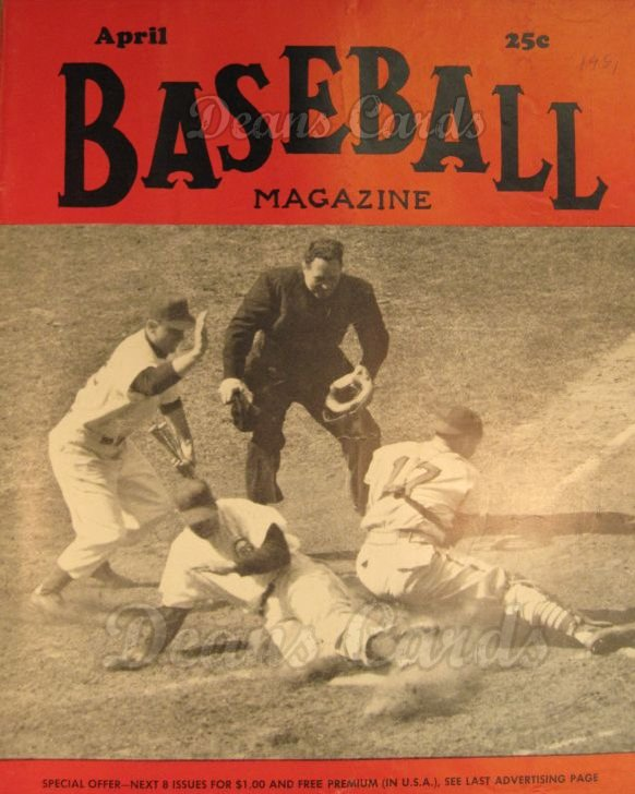 1951 Baseball Magazine    April