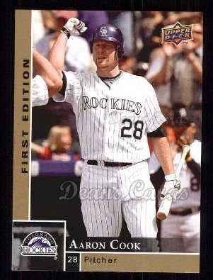 2009 Upper Deck First Edition #99  Aaron Cook