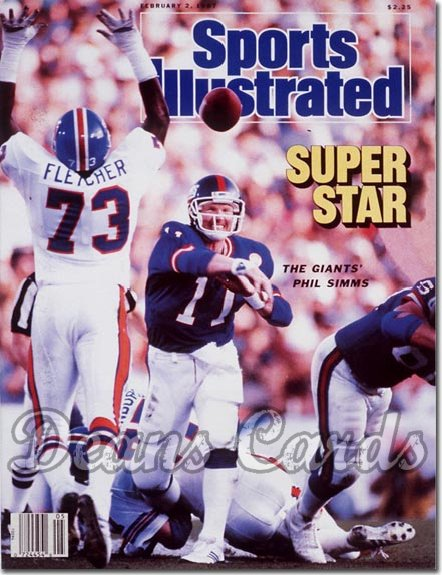 1987 Sports Illustrated - With Label   February 2  -  Phil Simms (New York Giants) (Super Bowl XXI)