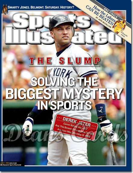 2004 Sports Illustrated   June 7  -  Derek Jeter NY Yankees