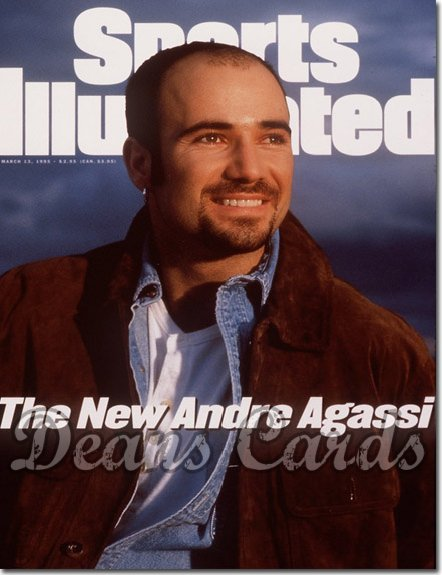1995 Sports Illustrated - No Label   March 13  -  Andre Agassi Tennis