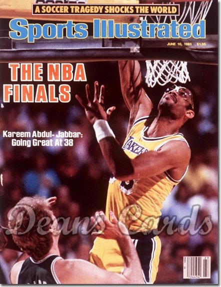 1985 Sports Illustrated - With Label   June 10  -  Kareem Abdul