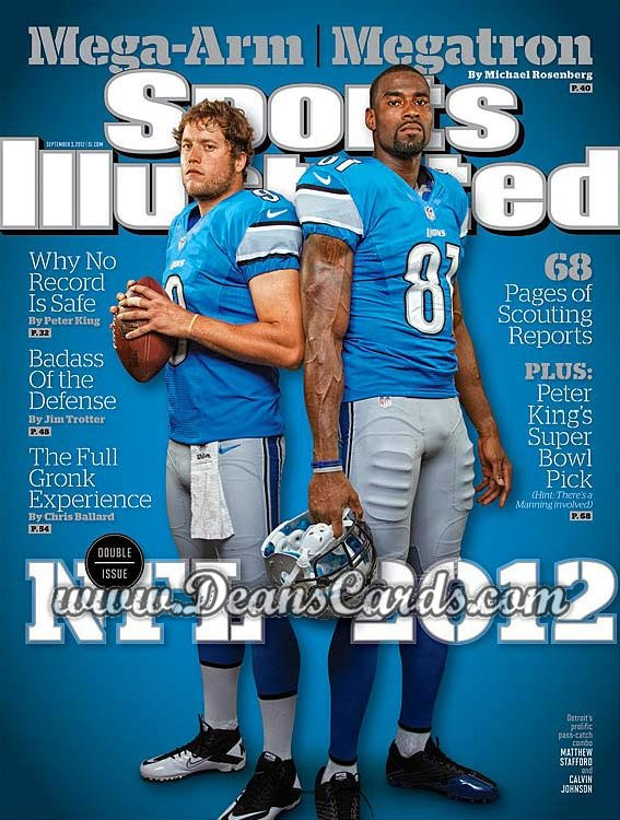 2012 Sports Illustrated   September 3  -  Calvin Johnson / Matthew Stafford / NFL  / Detroit Lions