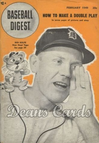 1949 Baseball Digest   -  Red Rolfe  February