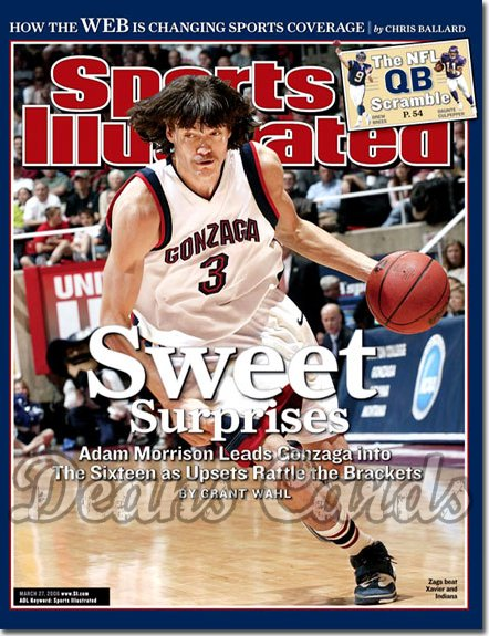 2006 Sports Illustrated - With Label   March 27  -  Adam Morrison Gonzaga