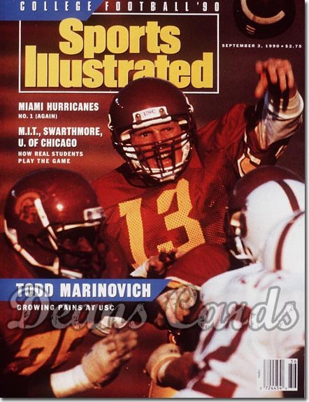 1990 Sports Illustrated - With Label   September 3  -  Todd Marinovich (USC Trojans) College Football Issue