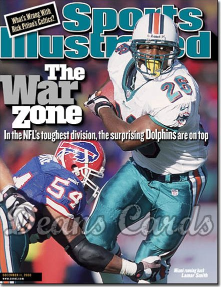 2000 Sports Illustrated   December 11  -  Lamar Smith (Miami Dolphins)
