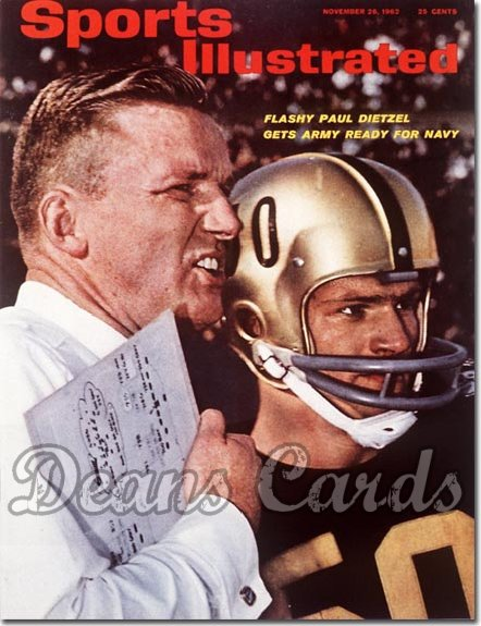 1962 Sports Illustrated - No Label   November 26  -  Paul Dietzel Army Football