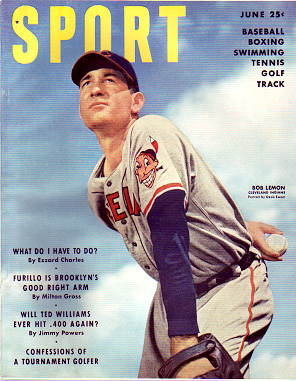 1950 Sport Magazine   -  Bob Lemon  June