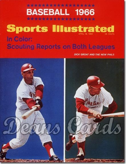 1966 Sports Illustrated - With Label   April 18  -  Dick Groat Philadelphia Phillies (Baseball Issue)