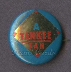 1964 Cranes Potato Chip Pin #20   Yankee Fan