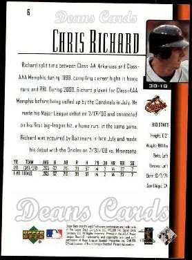 2001 Upper Deck #6  Chris Richard