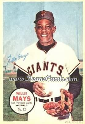 1967 Topps Poster Inserts #12  Willie Mays