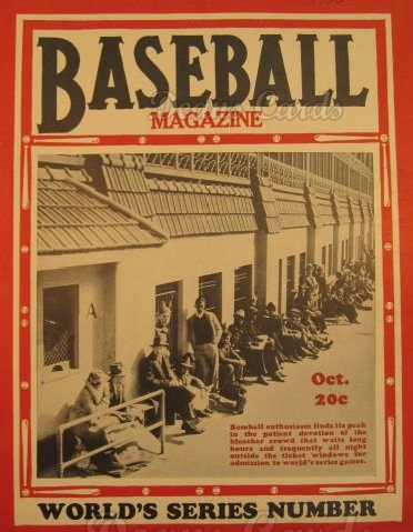1936 Baseball Magazine    October