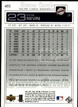 2003 Upper Deck #465  Phil Nevin