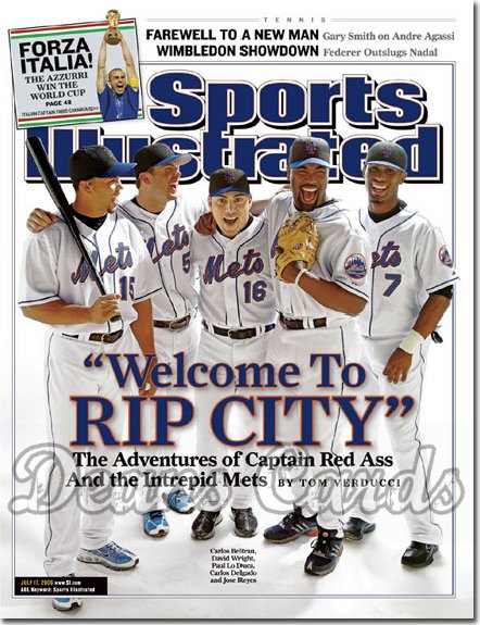 2006 Sports Illustrated - With Label   July 17  -  NY Mets