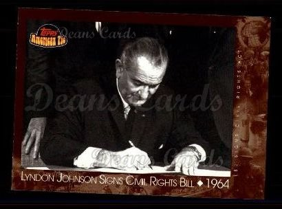 2001 Topps American Pie #122   Lyndon Johnson Signs