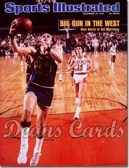 1974 Sports Illustrated - With Label   December 16  -  Rick Barry (Golden State Warriors)