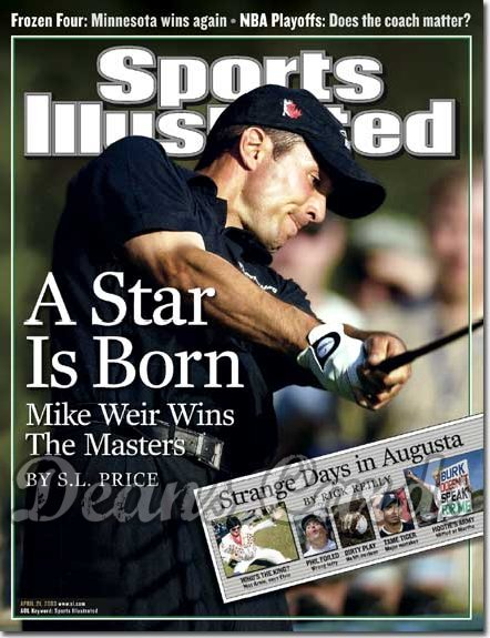 2003 Sports Illustrated - With Label   April 21  -  Mike Weir Golf