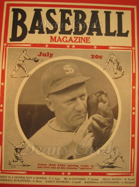 1933 Baseball Magazine    July