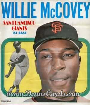 1970 Topps Poster Inserts #7  Willie McCovey