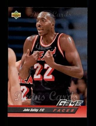 1992 Upper Deck #497   -  John Salley Game Faces