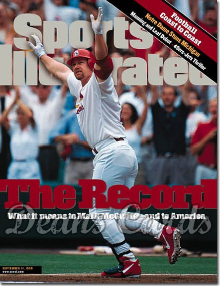1998 Sports Illustrated - No Label   September 14  -  Mark McGwire (St. Louis Cardinals) Extra Edition