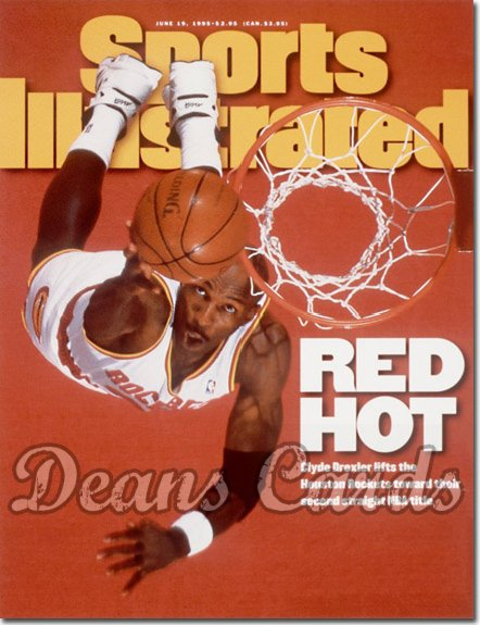 1995 Sports Illustrated - With Label   June 19  -  Clyde Drexler (Houston Rockets)